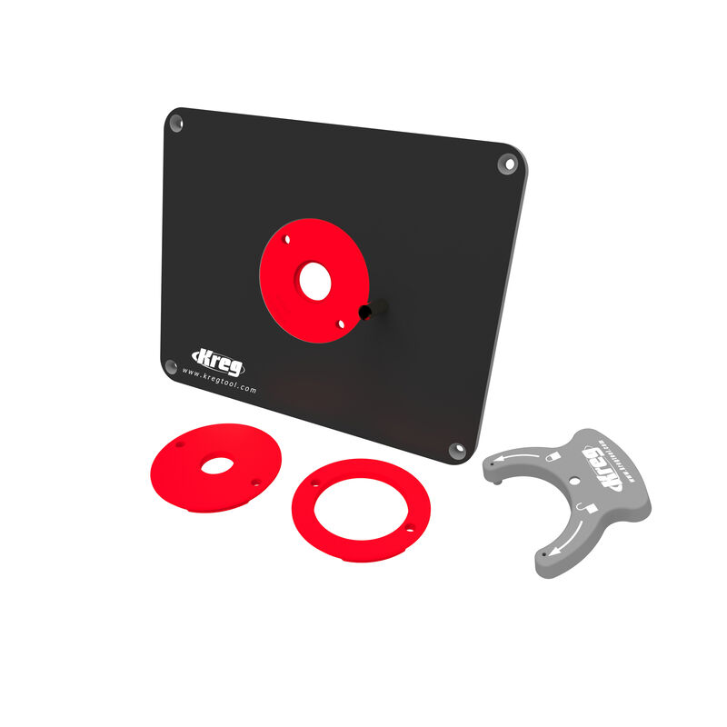 Precision Router Table Insert Plate - Predrilled for Triton, , hi-res
