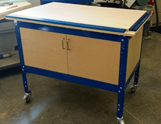 Get organized with an under-bench storage cabinet