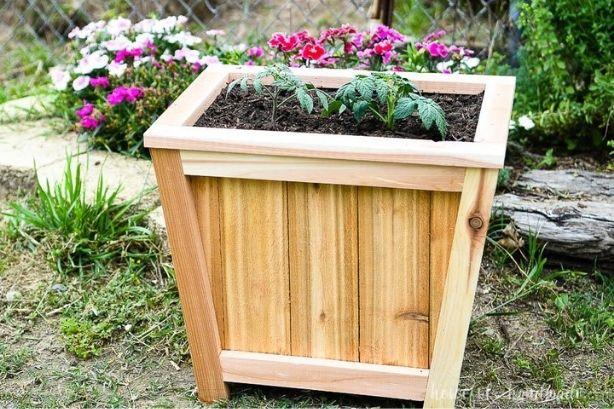 Angled Cedar Planter