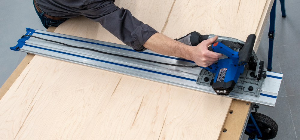 Pair with the Kreg Plunge Saw to get straight, splinter-free, accurate cuts