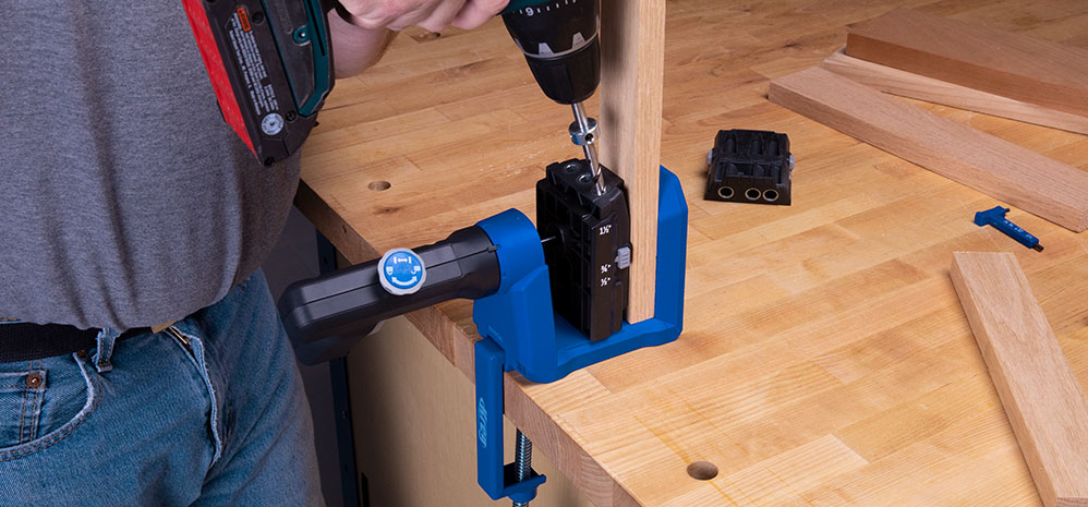 This pocket-hole jig was designed for flexibility.