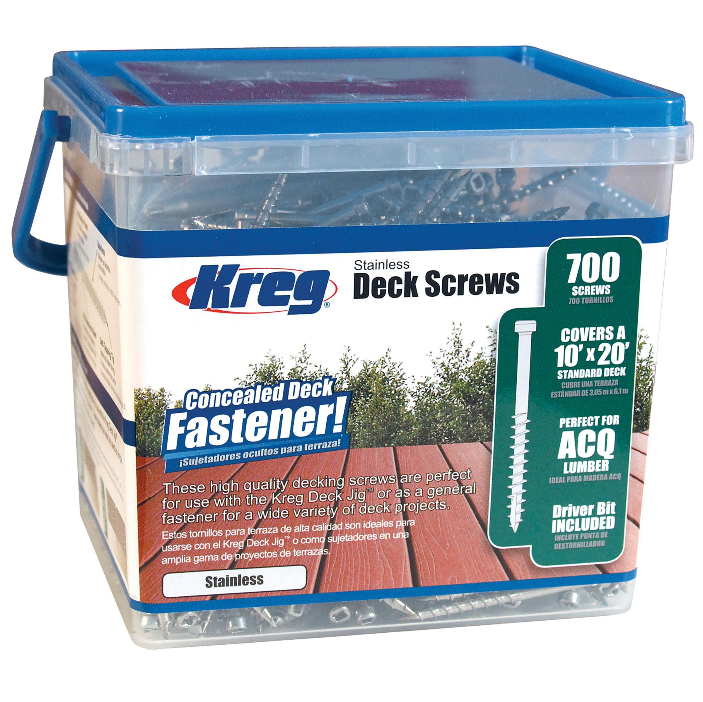 Stainless Deck Screws - 700ct.